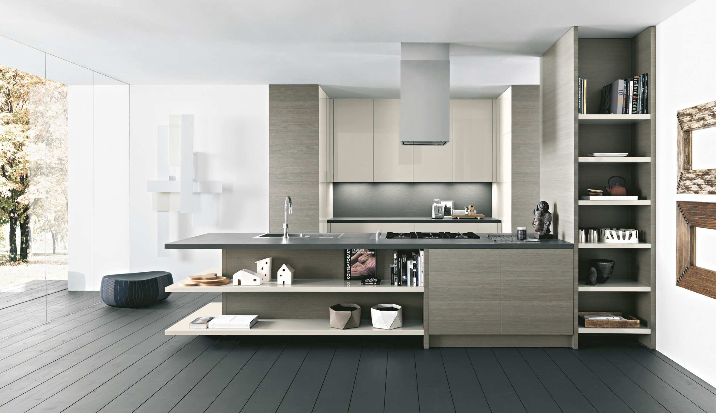 Modern Corner Kitchen With Island