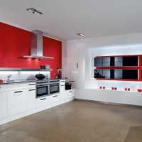 Modern Red & White Kitchen Design