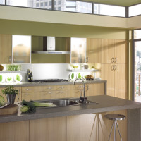Natural Oak Gloss Kitchen Design