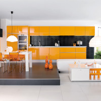 Orange Kitchen Design