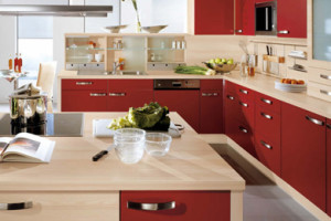 Pia Burgundy Kitchen Design - FP