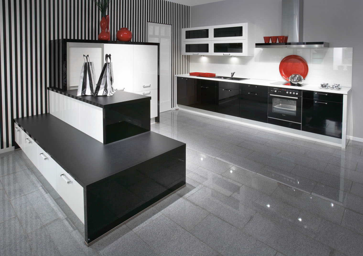 Gloss Kitchen Floor Tiles Black Gloss Kitchen Ideas Quicuacom