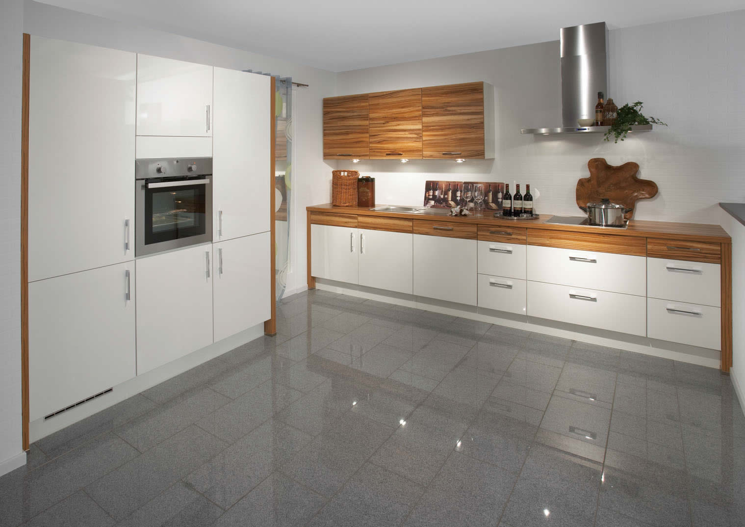 primo white high gloss zebrano kitchen design