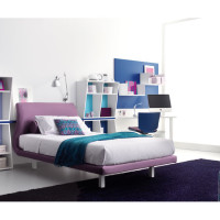 Purple Blue Teen Bedroom
