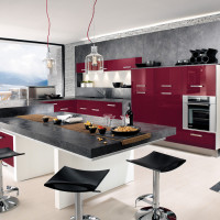Purple Grey Kitchen Concept