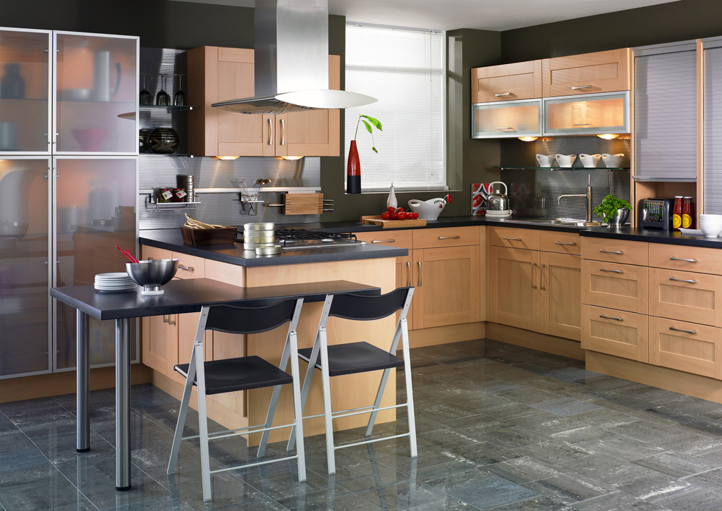 shaker beech kitchen design