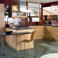 Shaker Beechwood Modern Kitchen Design