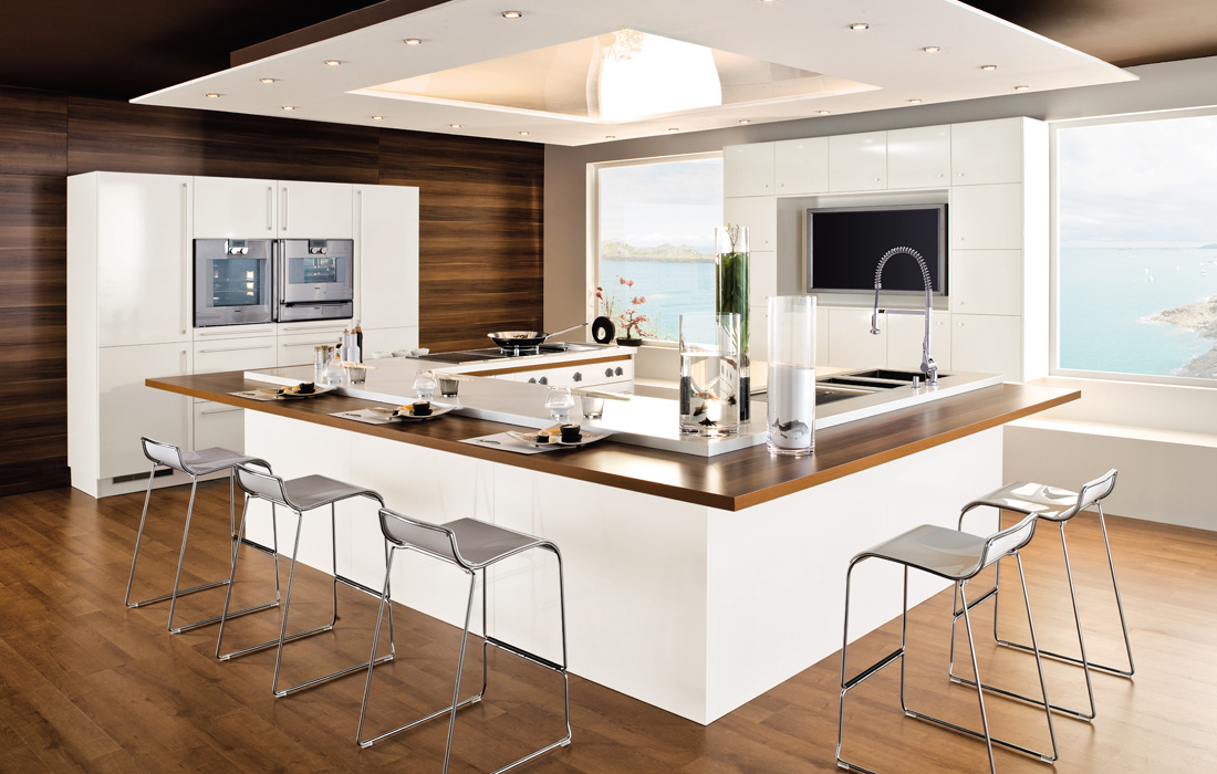 Salon Moderne Et Design :  Kitchen Designs from Perene » Sober Wooden Floored White Kitchen