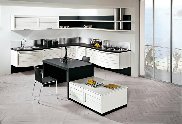A Clean Contemporary Polished Kitchen With High Gloss Kitchen Designs Decoration Idea Luxury Top