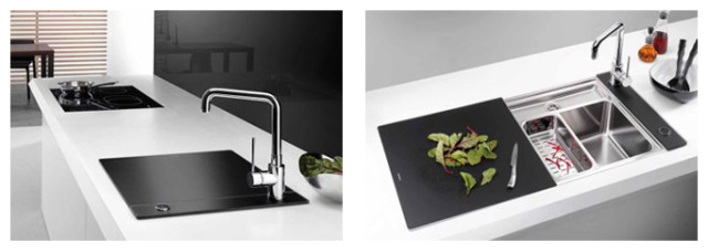 BLANCOSTATURA Crystal Line - Perfect aesthetic in glass Kitchen Sink
