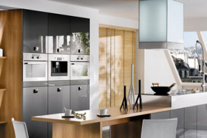 Cyane Metallic Graphite Kitchen Design