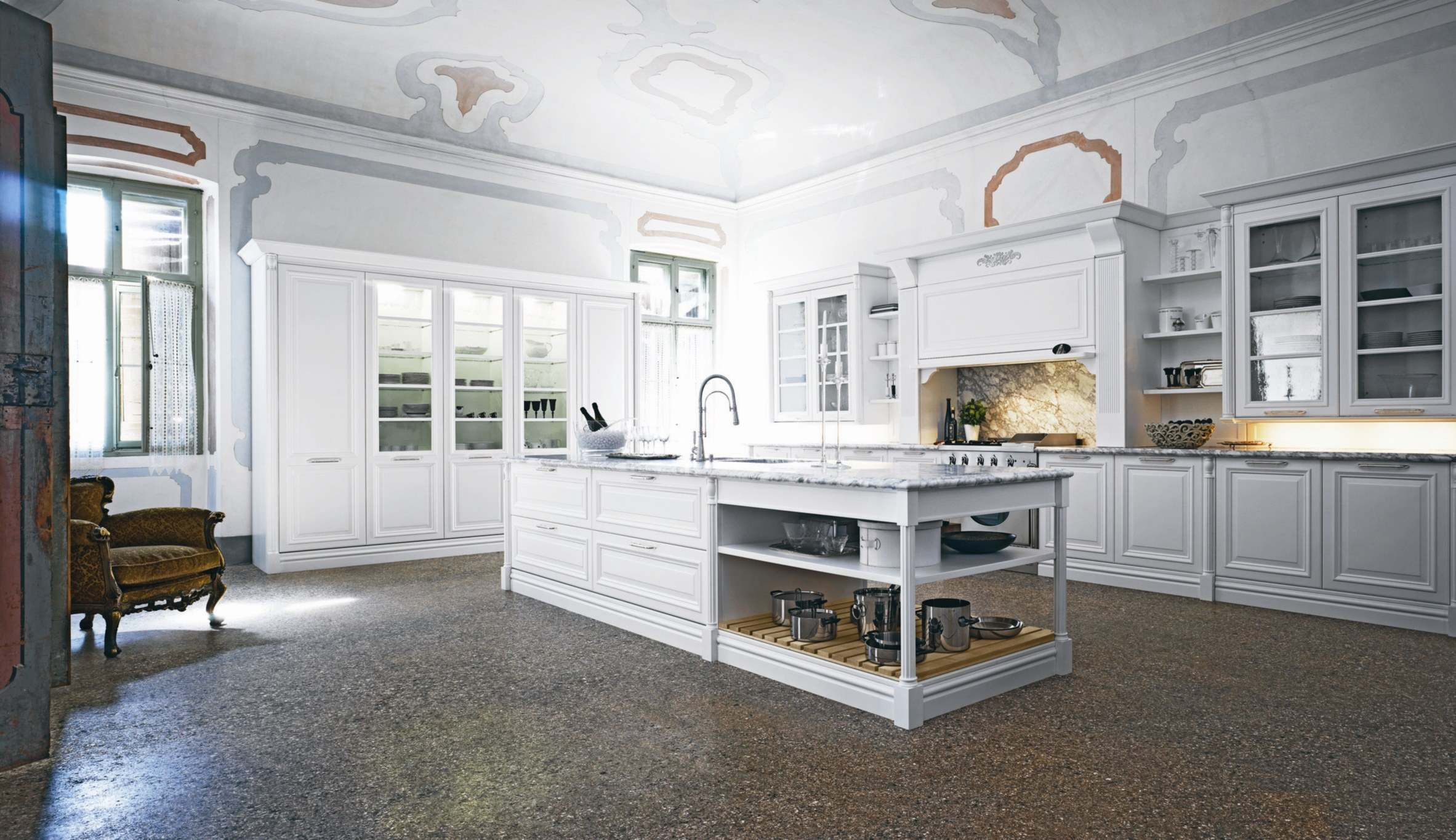 Elite traditional kitchen interior white doors and for Interior design kitchen traditional