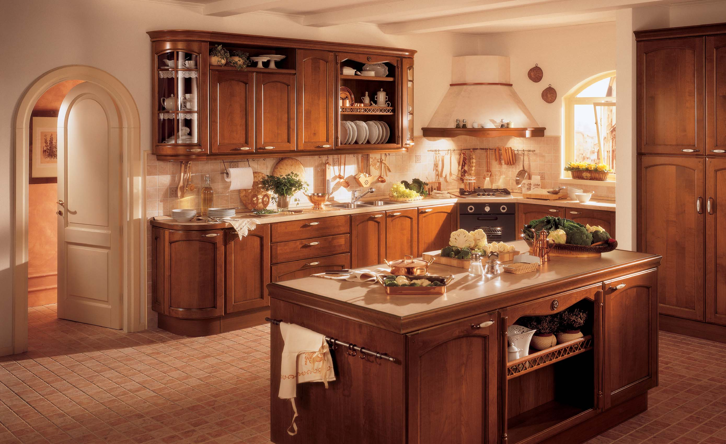 Epoca classic kitchen interior design for Kitchen design decorating ideas