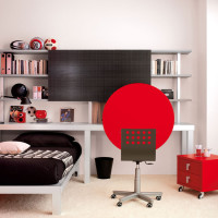 Red Small Teen Bedroom