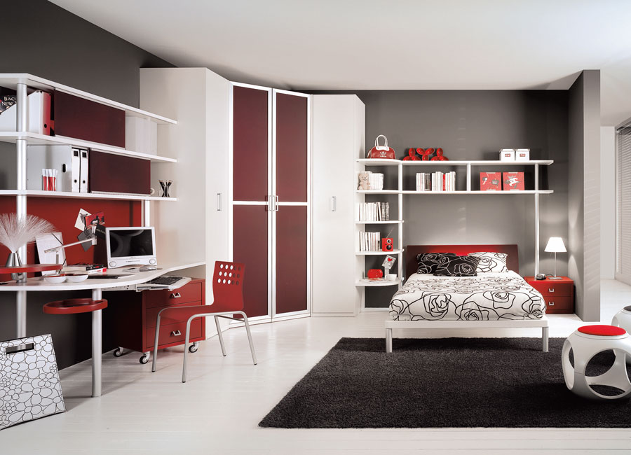 Teen bedroom interior design for Bedroom for girl interior design