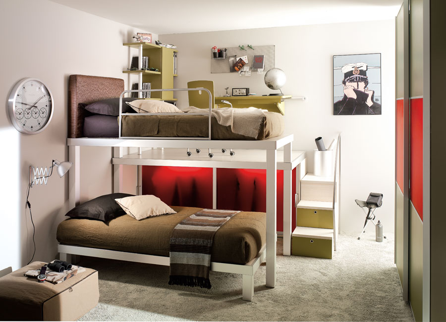 Teen Bedroom with Bunk Beds StyleHomes