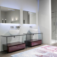 Bathroom Vanities – Contemporary Glass Vanity by Antonio Lupi