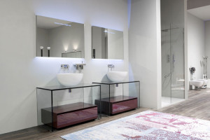 Contemporary Glass Bathroom Vanities - 2
