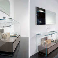 Contemporary Glass Bathroom Vanities - 3