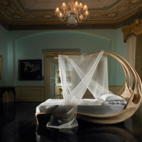 Bedroom Furniture : Enignum Canopy Bed by Joseph Walsh