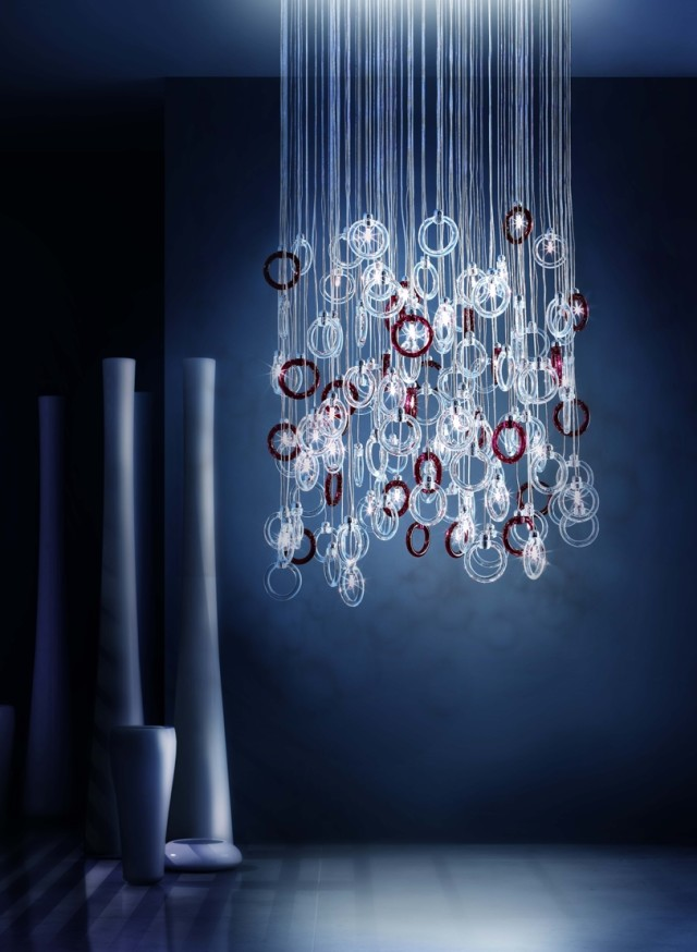 Micron Blue Ginger Chandelier