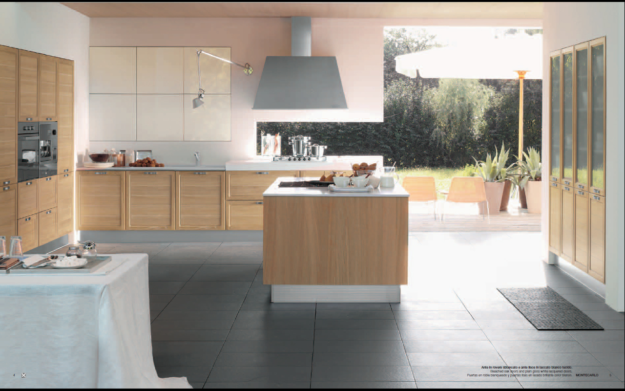 Bright montecarlo kitchen design Bright kitchen