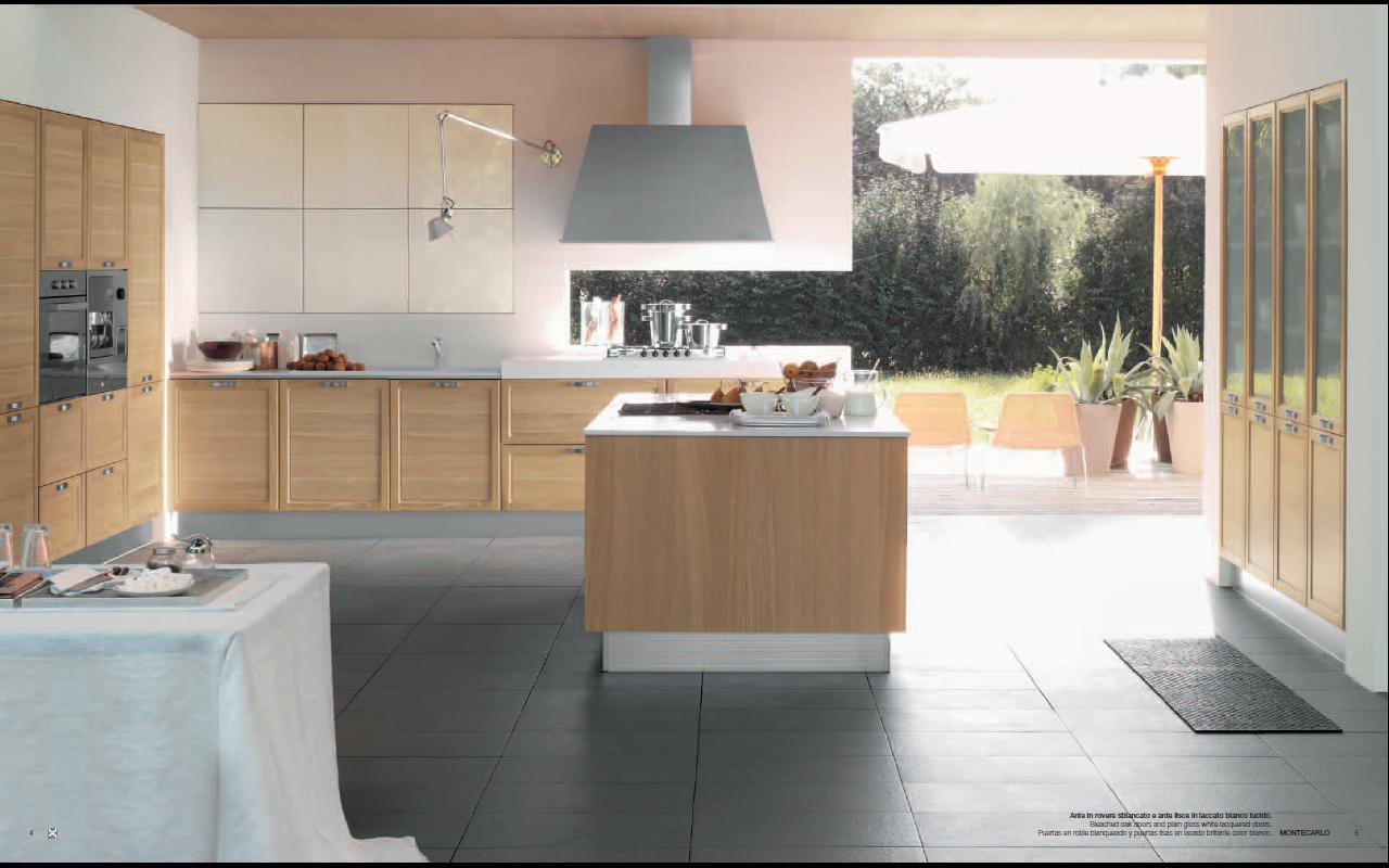 Bright montecarlo kitchen design Bright kitchen