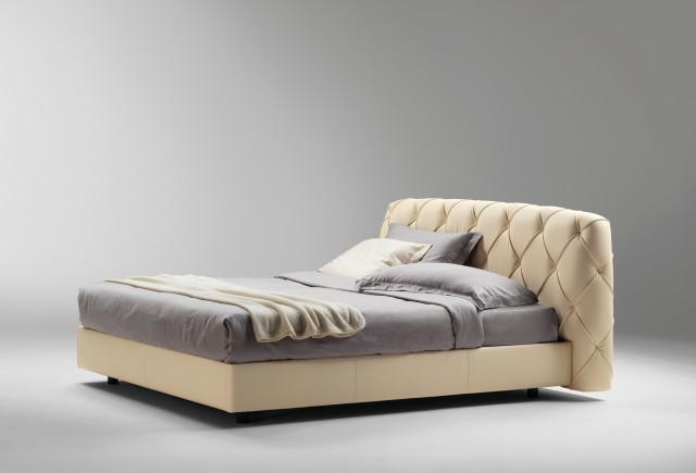 Capitone Headboard Base Bed Flair 01 by Poltrona Frau