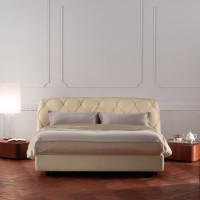 Capitone Headboard Base Bed Flair 02 by Poltrona Frau