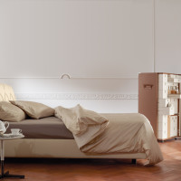 Capitone Headboard Base Bed Flair 03 by Poltrona Frau