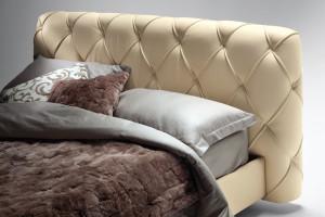 Capitone Headboard Base Bed Flair 05 by Poltrona Frau