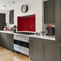 Dark-Gray Kitchen Cabinets