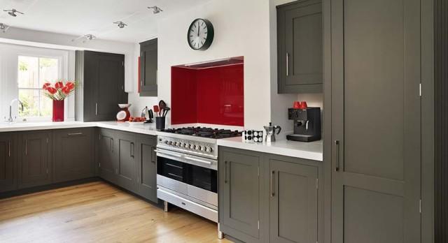 Dark Grey Cabinets Kitchen Decor