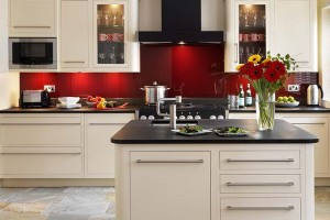 Dark Red Kitchen Interior Ideas