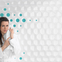 Dot Tiles Collection White & Cyan