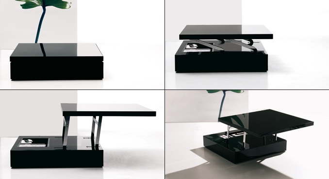 Led Lighted Tables Ozzio Flat 3