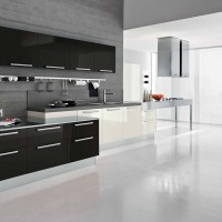 Modern Dark Wave Kitchen Design