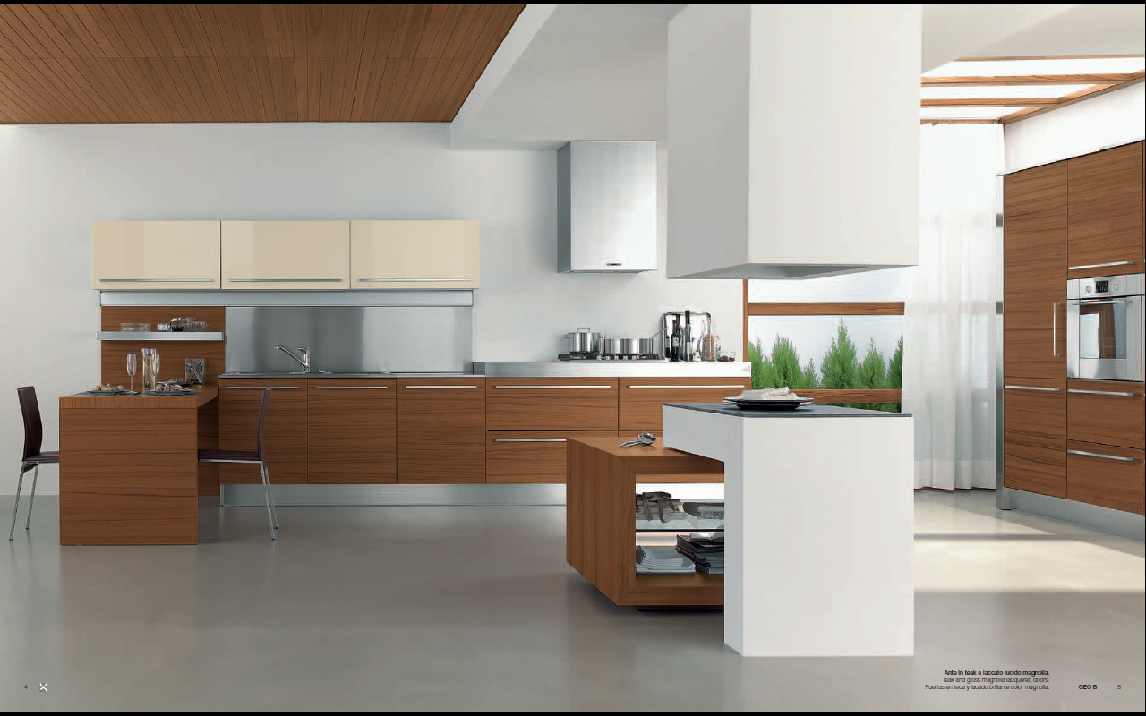 Modern geo e geo b kitchen design for Home kitchen design images