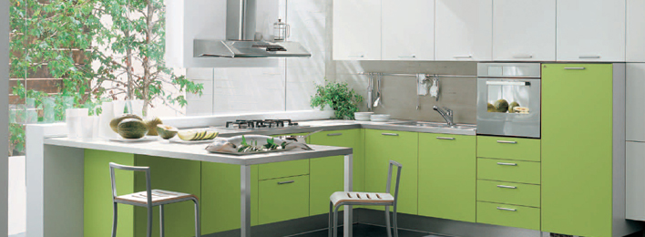 Modern green madison kitchen interior design fp for Modern green kitchen designs