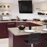 Purple Bespoke Handmade Kitchen Interior