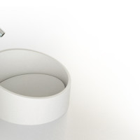 Ring Solid surface sink design for modern bathroom