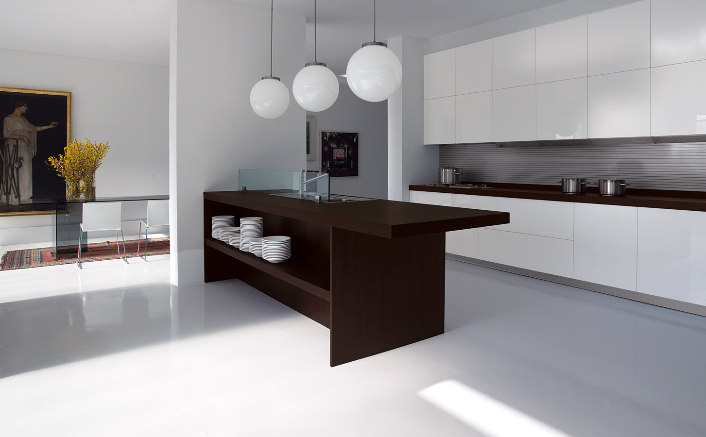 Simple contemporary kitchen interior design one for Kitchen interior designs pictures