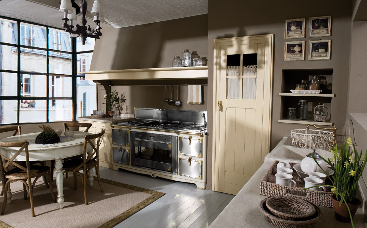 Country Chic Kitchen Doria by Marchi Cucine - StyleHomes.net