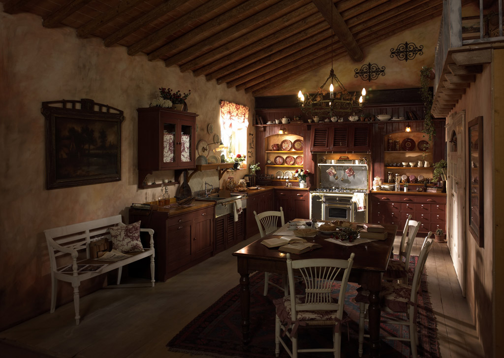 Country Chic Kitchen Incontrada by Marchi Cucine - StyleHomes.net