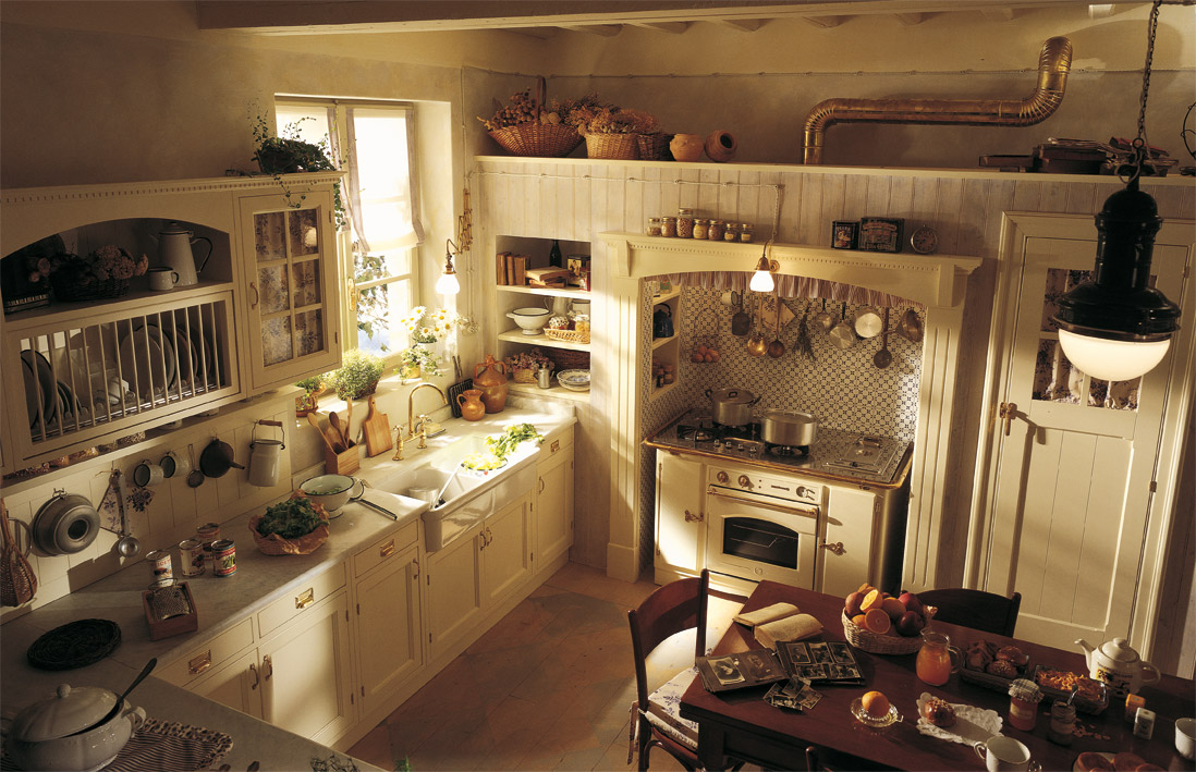 Country chic kitchen old england by marchi cucine for Old country style kitchen ideas