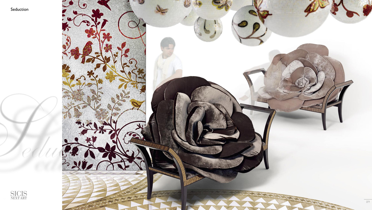 Exotic furniture design seduction sicis next art for Art design furniture