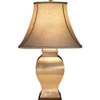 Square Brass Vase Lamp