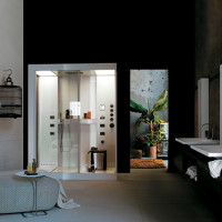 Bathroom Decorating – Aluminum Shower Cabin Avec by KOS