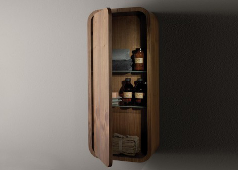 Contemporary Dark Walnut Bathroom Furniture by Toto - 02