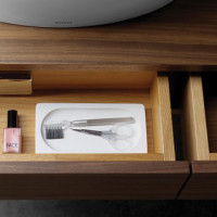 Contemporary Dark Walnut Bathroom Furniture by Toto - 04